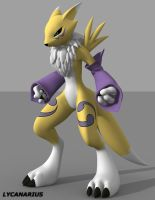 Renamon pose 1 - Ready to Fight by lycanarius