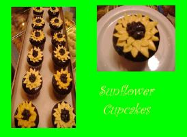 Sunflower Cupcakes by OliveDrop