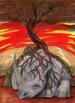 Death of the Western Black Rhino by That-Green-Monster