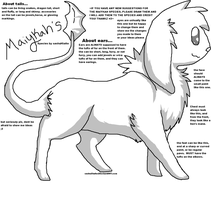 Maiykah Species info and lineart by PI0SON