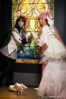 Emre and Kuri display Madoka cosplays @ Navy Pier by N1k0nSh00ter