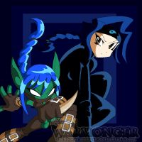 Stealth-Elf and Shiki - Skylanders Portal Masters by Chibi-Warmonger