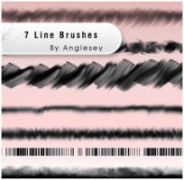 7 Line Brushes by anglesey