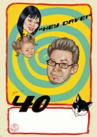 HEY DAVE you're 40 Poster by enginemonkey