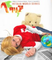 Hetalia - Matthew and Kumajiro by CarmenMCS