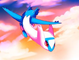 Latios speedpaint by Pand-ASS