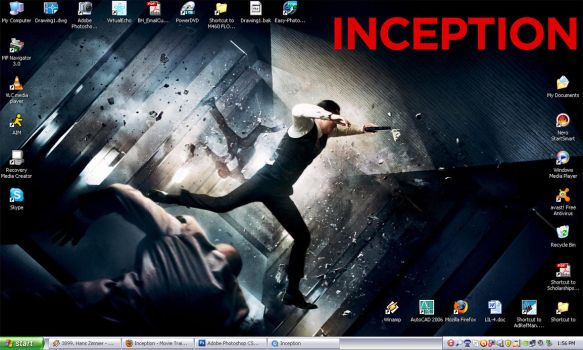 Inception Desktop WP by BlaqkElectric