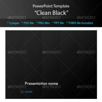Clean Black Powerpoint Templat by M3-f-web