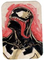 Venom sketch bust by mdavidct