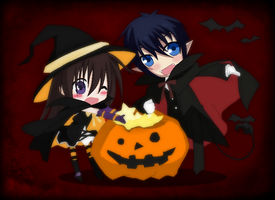 Blue Exorcist-Happy Halloween by TFAfangirl14