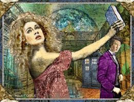 River Song and the Doctor - Luna University by evisionarts