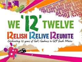 12th Anniv PPT Template Front by artjective