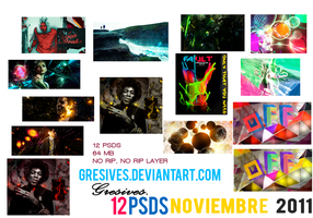 PSD PACK Noviembre by Gresives
