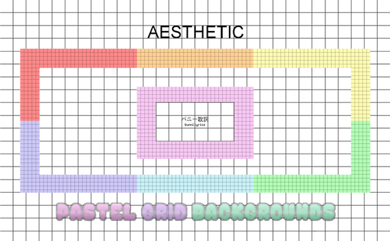 -aesthetic- 7 pastel grid backgrounds by pinkuOnigiri