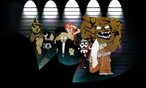 Gothams Superstitious Cowardly Lot by jixustudios