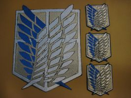 Attack on Titan patches - Scouting Set by poisonedangel