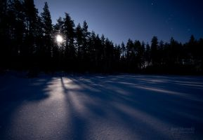 Full Snow Moon Light by JoniNiemela