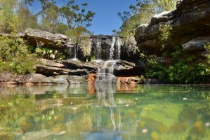 Waterfall in the Royal National Park by novicebutnice