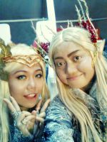Queen of Mirkwood and King Thranduil Selfie by seawaterwitch