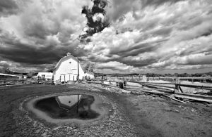 reflections an wicked clouds at the weber barn by eDDie-TK
