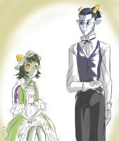 Nepeta and Equius by midnazora