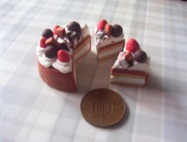 MINIATURE SLICED CAKE by Victim-RED