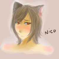 [Older?] Nico Practice headshot by Pinepuruu