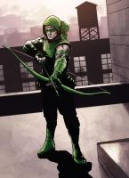 Green Arrow by Paul Moore-colors by Biram-Ba
