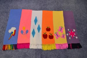 Mane6 Scarves by GhostOfWar909