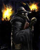 Plague Dr. speedpainting by dsilvabarred