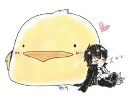 Nap Time - Hibari and Hibird by paperkimchi