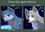 draw this again meme by InuKii