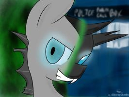 Ninth Doctor Whooves Changeling by charbycharby