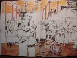 The Crowd at the Food Aisle by Lostro