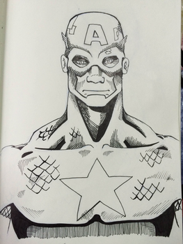 American Captain sketch by angelnb