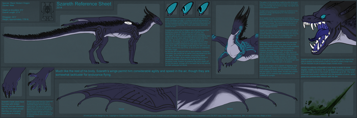 Szareth Reference Sheet ~ Ouiatchouan by Xervous