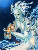 Merman with Octopus by GoldeenHerself
