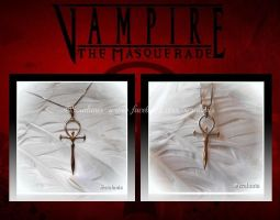 'Vampire The Masquerade' sterling silver pendants by seralune