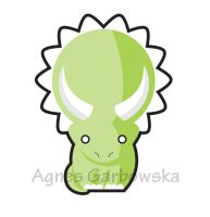 Baby Triceratops by AgnesGarbowska