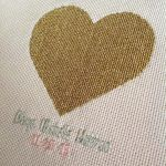 Heart of Gold Birth Sampler by pinkythepink