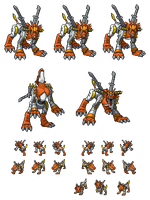 MetalGarurumon Orange by Wooded-Wolf