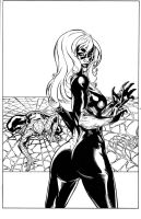 Spidey Blackcat inks by madman1