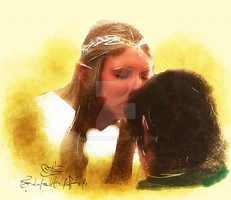 Galadriel And Frodo by NiciRuby