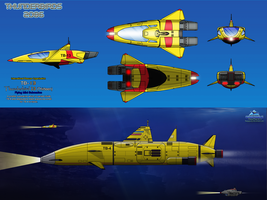 Thunderbird 13 (TB-13) Flying Mini Submarine by haryopanji