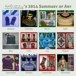 My 2014 knitting cavalcade by KnitLizzy