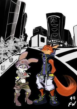 The world ends with you X Zootopia crossover by MurLik