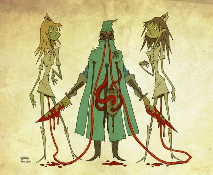 Zomb MD + Zomb Nurses by pezbananadesign
