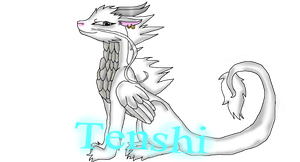 Tenshi the Mighty Dragon by Darkpaw-Lights
