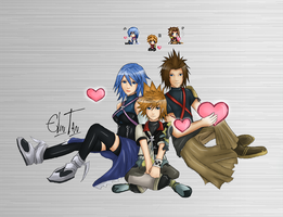 KH: Birth by Sleep crew by Arlequinne