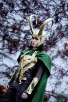 Loki Cosplay in winter by Mon-Kishu